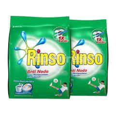 Rinso Anti Noda Deterjen Bubuk dengan Kristal X Biru 800g Twinpack