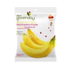 Greenday Banana Chips With Strawberry powder
