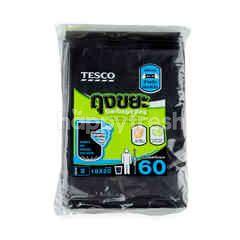 เทสโก้ ถุงขยะ 18*20 ไซส์ S 60 ใบ