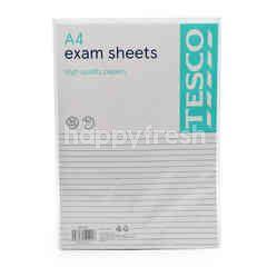 Tesco A4 Exam Sheets
