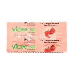 Vicee 500 Lozenges Vitamin C Strawberry Flavor