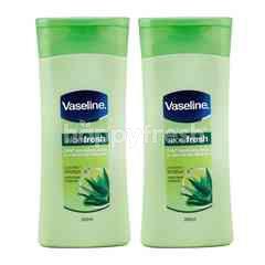 Vaseline Losion Badan Total Moisture Aloe Fresh Twinpack