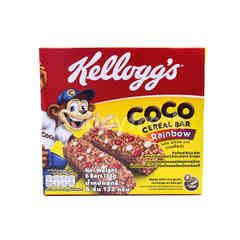 Kellogg's Coco Cereal Bar Rainbow Puff Rice Bar With Chocolatey Coloured Drops