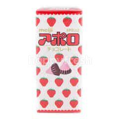Meiji Apollo Strawberry Chocolate
