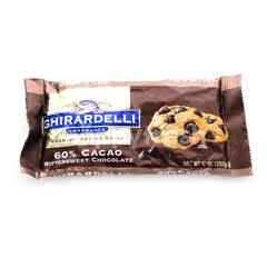 Ghirardelli Chocolate Premium Baking Chips 60% Cacao Bittersweet Chocolate