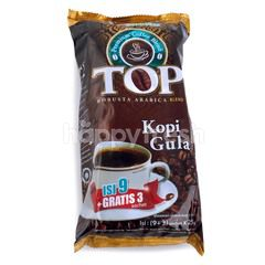 TOP Coffee Robusta Arabica Blend Instant Coffee with Sugar (12 sachets)