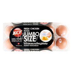 เคซีเอฟ ไข่ไก่สด ขนาดใหญ่พิเศษ (10 ฟอง)