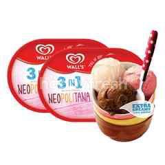 Wall's Extra Creamy 3-in-1 Neopolitana Ice Cream
