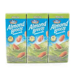 Blue Diamond Almond Breeze Matcha Flavor Almond Milk 180 ml X 3 Pack
