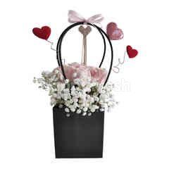 Emme Florist Vals Day Bag Rose - Pink
