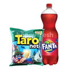 Fanta Rasa Strawberry 1.5L dan Taro Net Rumput Laut