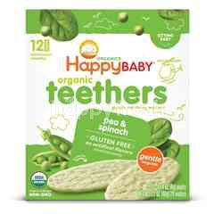 Happybaby Teething Wafer - Pea/Spinach (48g)