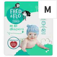 Tesco Fred & Flo M81 Diapers (81 Pieces)