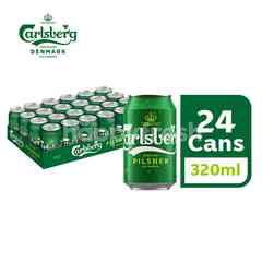 Carlsberg Danish Pilsner Beer Can (320ml x 24)