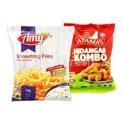 QSR AMY Shoestring Golden Fries and Ayamas Combo Feast Chicken Nuggets