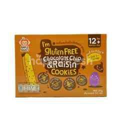 APPLE MONKEY Gluten Free Cookies - Chocolate Chips & Raisin (60g)