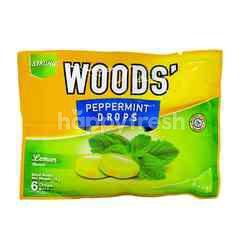 Woods' Strong Peppermint Lozenges Lemon (6 Pieces)