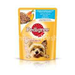 Pedigree Pouch Dog Food Adult Chicken & Grilled Liver Loaf with Vegetable 80g Dog Wet Food