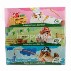 Zilk Facial Tissues 3 Packs 2 ply
