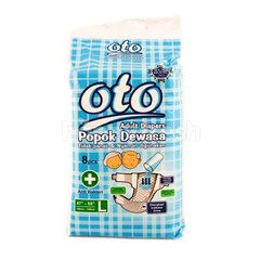 Oto Anti Bacterial Adult Diapers Size L (8 pieces)