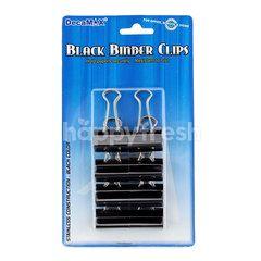 Decamax Black Binder Clips