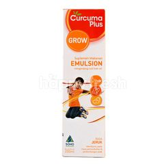 Curcuma Plus Grow Food Supplements Contain Cod Liver Oil with Orange Flavor