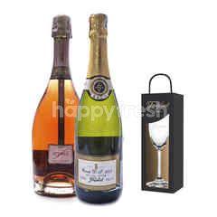 Freixenet Cuvee D.S + Elyssia Pinot Noir Get Riedel Flute Glass Free