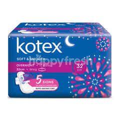Kotex Soft & Smooth Overnight Pads (12 Pieces)
