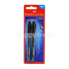 FABER CASTELL 0.7mm Black Super Smooth Ball Pen (2 Pieces)