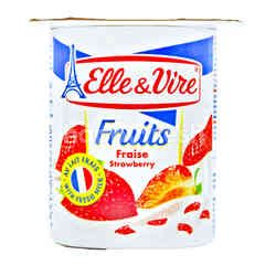 Elle & Vire Yogurt Rasa Buah Stroberi
