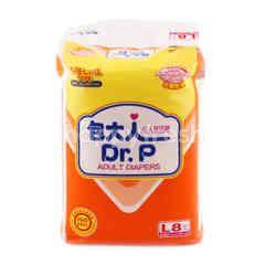 Dr. P Adult Diapers Size L (8 pieces)