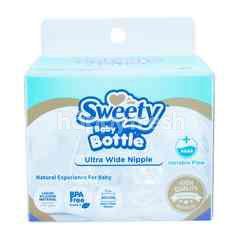 Sweety Botol Bayi Ultra Wide Nipple dengan Aliran Variabel