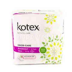 Kotex Odour-Care Overnight - 32cm - Wing - 6 Pads