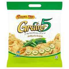 SNEK KU Green Peas Flavoured Multigrain Crackers (8 Pieces)