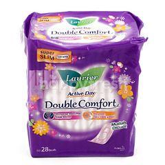 Laurier Active Day Double Comfort Pembalut Tanpa Sayap Super Tipis