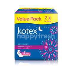 Kotex 28cm Heavy Flow/Night Wing Pads (2 x 16 Pads)