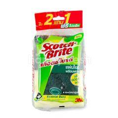 Scotch Brite Scrubber With Sponge General Duty 3M
