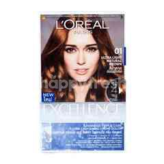 L'Oreal Excellence Fashion Ultra Lights Pewarna Rambut 01 Coklat Terang Natural