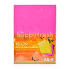 Renown A4 Neon Coloured Paper (25 Pieces)