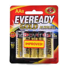 Eveready AA Gold Alkaline Battery (8 Pieces)