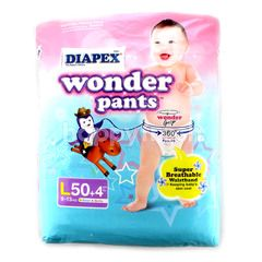 Diapex Baby Pant Wonder Pants Size L (54 Pieces)