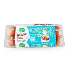 เคซีเอฟ ไข่ไก่สด เบรนพลัส (10 ฟอง)