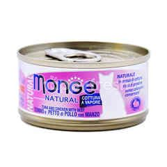 MONGE Natural Tuna And Chicken With Beef Flavoured Cat Food