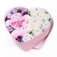 Citra Florist Artificial Flowerbox Sleeping Love Pink