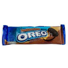 Oreo Double Delight Sandwich Cookies Peanut Butter and Chocolate Cream