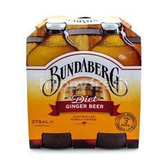 Bundaberg Non Alcoholic Diet Ginger Beer (4 Bottles)