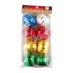 ของตกแต่งเทศกาลปีใหม่ ลูกบอลประดับต้นคริสต์มาส 8 ชิ้น