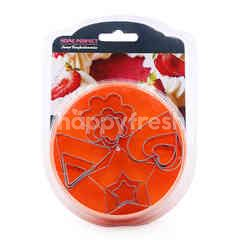 Home Perfect Stainless Steel Mix Shapes Cookie Cutter (12 Set)