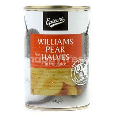 Epicure Williams Pear Halves In Fruit Juice