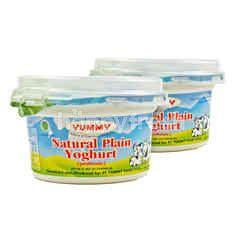 Yummy Probiotic Natural Plain Yogurt Twinpack 100g